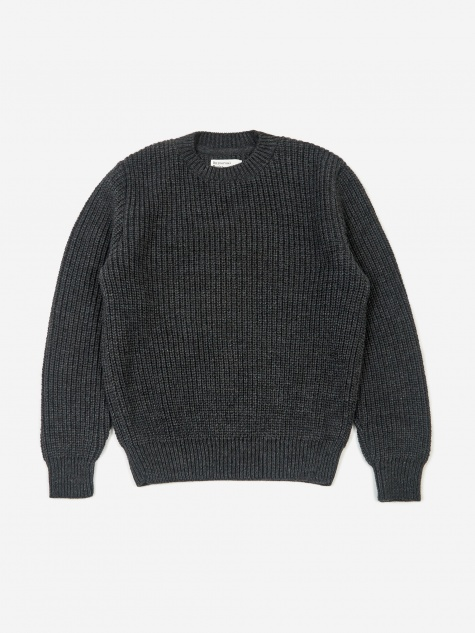 Crew Neck Jumper - Charcoal