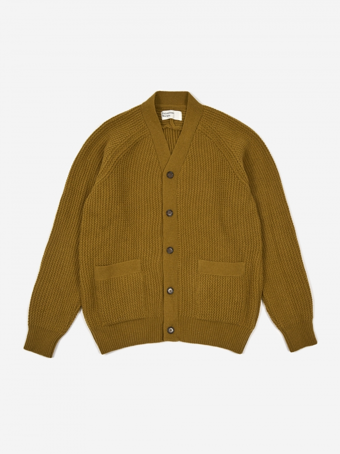 Universal Works Vince Cardigan - Mustard (Image 1)