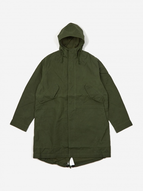 Scottish Wax Cotton Parka - Forest