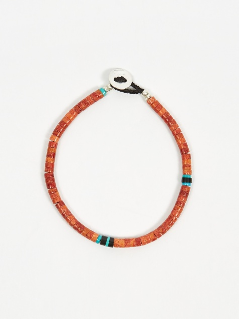 Tube Beads Bracelet - Coral/Turquoise