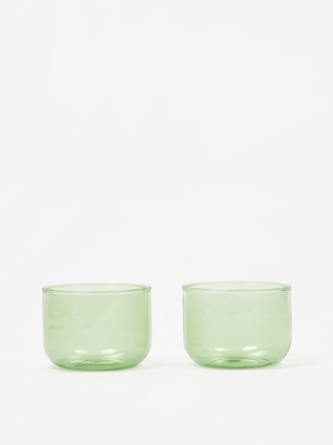 Tint Glass Set of Two - Green