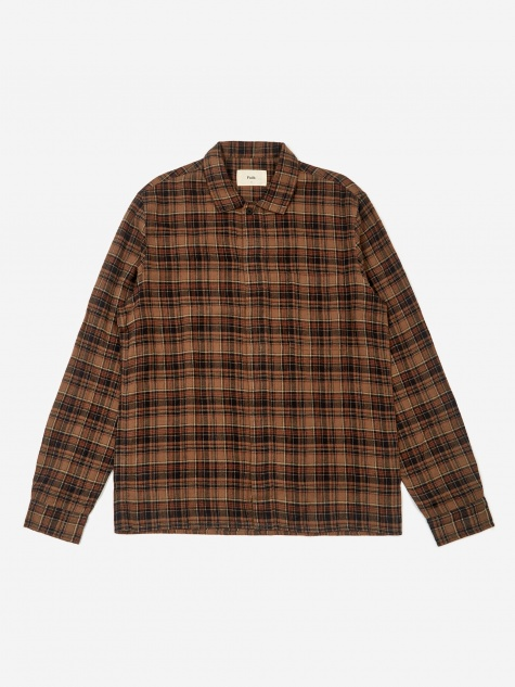 Patch Shirt - Brown Multi Check