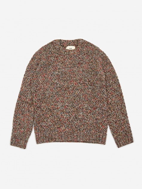 Mixed Yarn Crewneck Jumper - Autumnal Mix