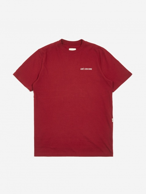 12oz Jersey Logo Shortsleeve T-Shirt - Red Wine