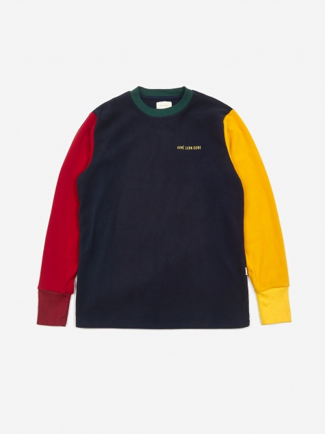 Colourblocked Longsleeve T-Shirt - Flag Navy