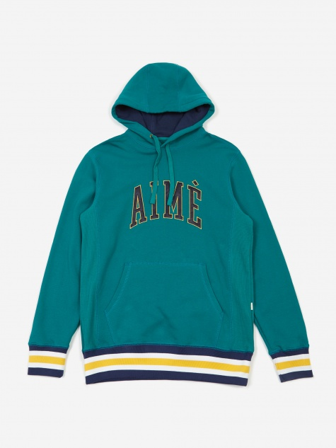 Terry Collegiate Hoodie - Mariner Green