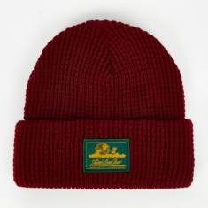 Aime Leon Dore Ald Waffle Knit Beanie Hat - Red Wine