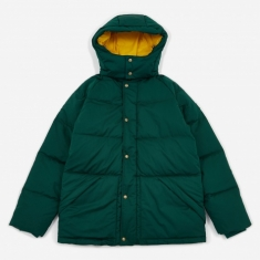 Aime Leon Dore Woolrich Down Hooded Coat - Botanical Green