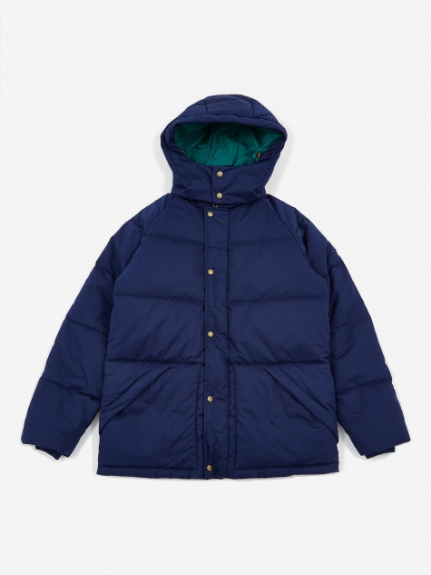 Woolrich Down Hooded Coat - Flag Navy