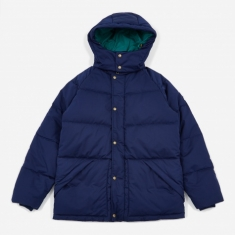 Aime Leon Dore Woolrich Down Hooded Coat - Flag Navy