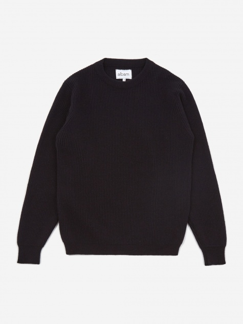 Ribbed Crewneck Jumper - Navy
