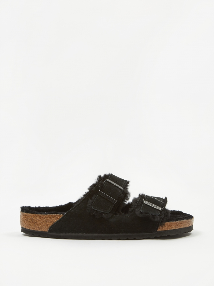 Birkenstock Arizona - Black Shearling (Image 1)