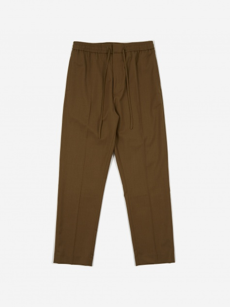 Stan Drawstring Trouser - Moss Green