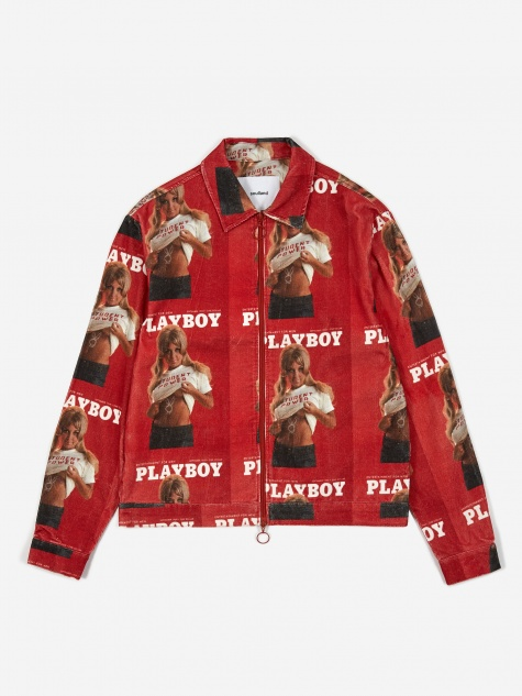 x Playboy Terry Corduroy Printed Jacket - Red