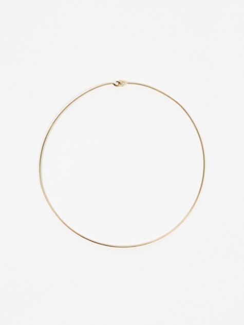 Square Wire Choker - Gold Vermeil 18K