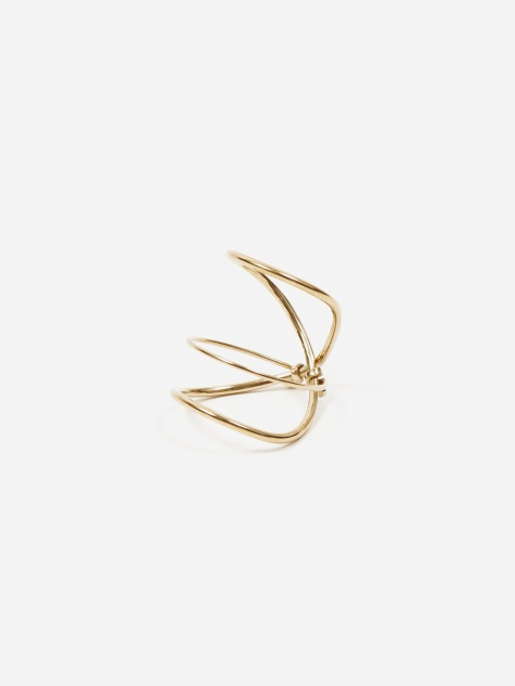 Articulated Infinity Knuckle Ring - 18K Gold