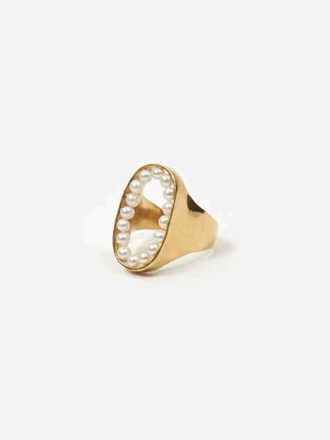 Fresh Water Pearl Ring - 18K Gold