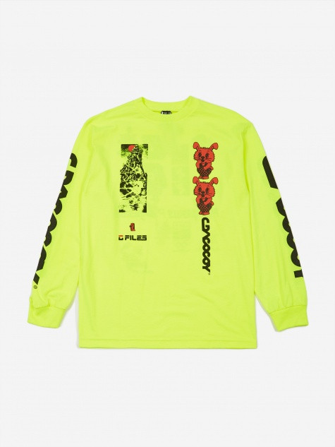 All Over Jehovah Longsleeve T-Shirt - Safety Green