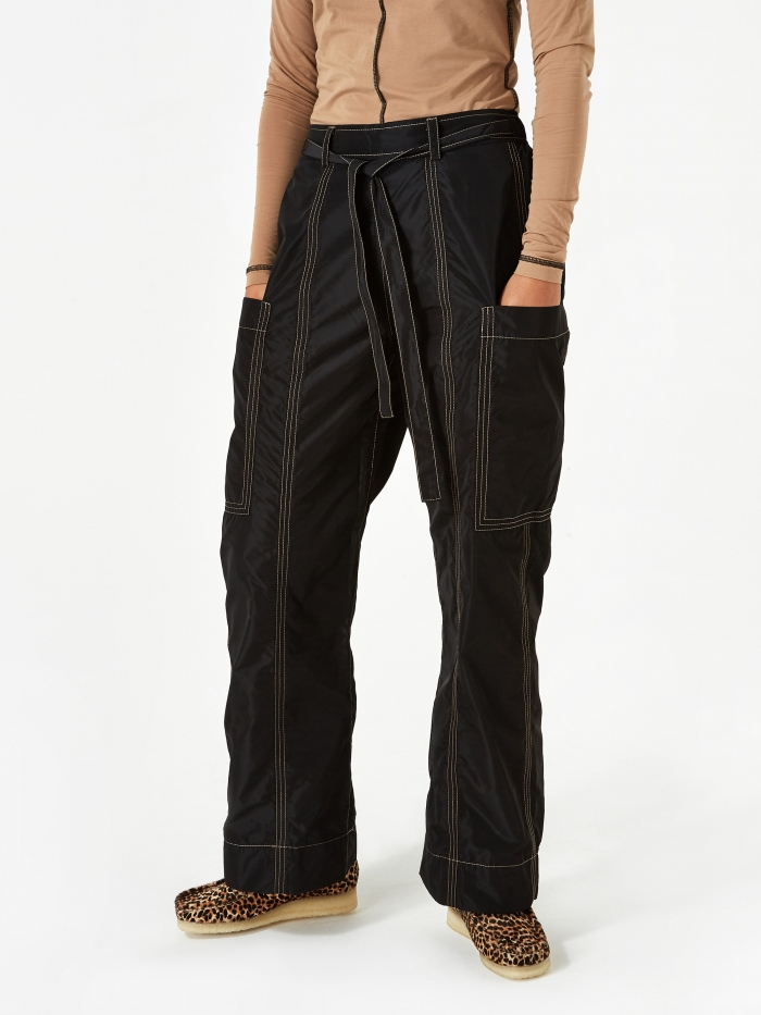 Ganni Recycled Trousers - Black (Image 1)