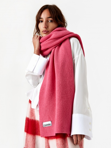 Knit Scarf - Hot Pink