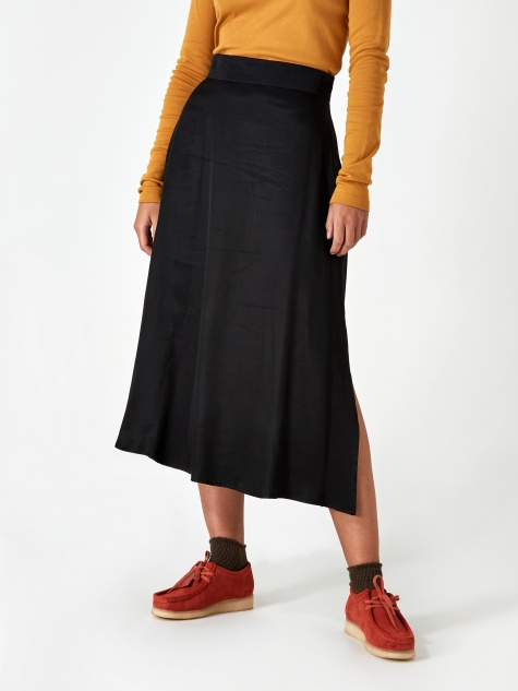 Luisa Cupro Skirt - Black