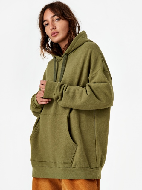 Classic Oversized Hooded Sweatshirt - Loden G