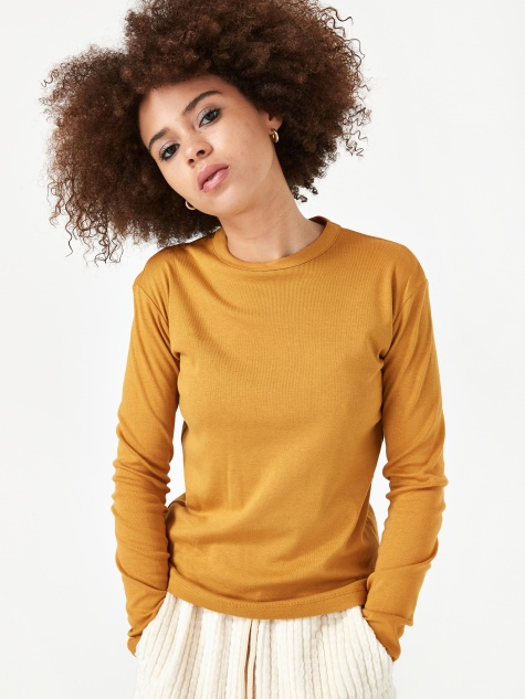 Finn Longsleeve Top - Honey Mustard