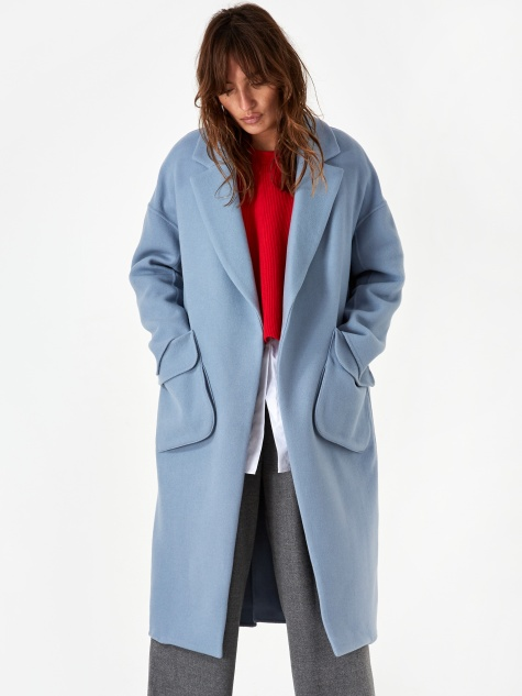 3D Pocket Coat - Blue