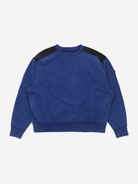 C.E Cav Empt Overdye Panel Shoulder Crewneck Sweatshirt - Navy