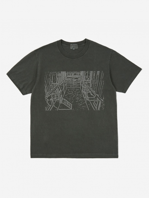 C.E Cav Empt Overydye Little Hall Shortsleeve T-Shirt - Charcoal
