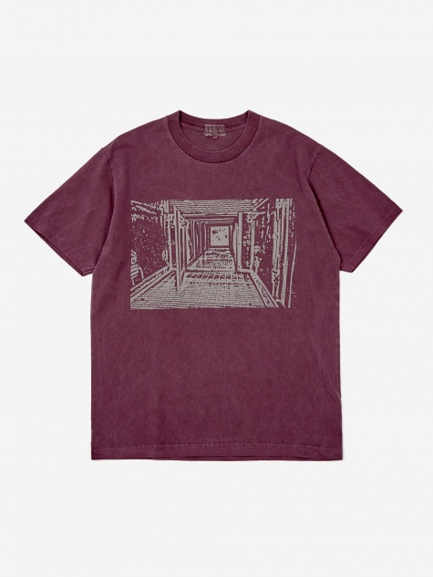 C.E Cav Empt Overydye Passage Shortsleeve T-Shirt - Purple