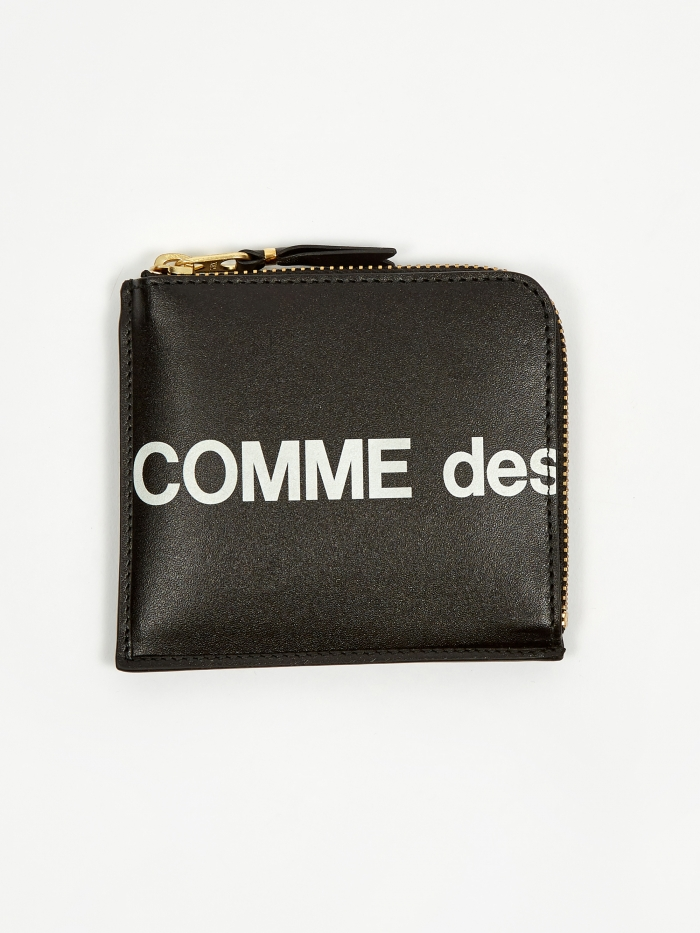 Comme des Garcons Wallets Huge Logo -(SA3100HL) Black (Image 1)