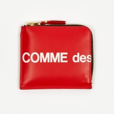 Comme des Garcons Wallets Huge Logo - (SA3100HL) Red