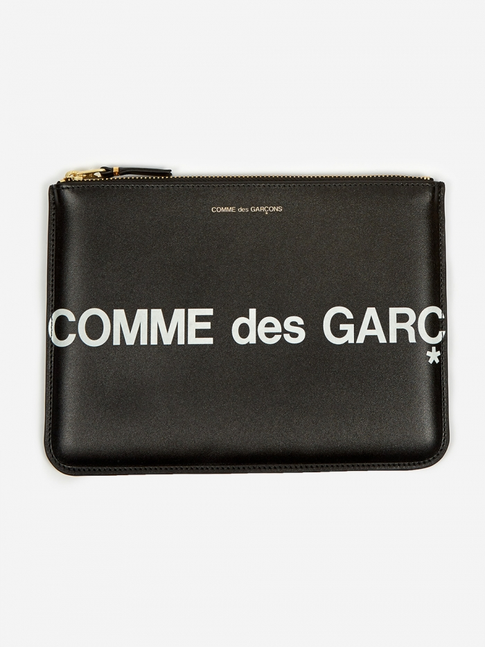 Comme des Garcons Wallets Huge Logo - (SA5100HL) Black (Image 1)