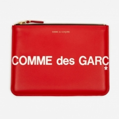 Comme des Garcons Wallets Huge Logo - (SA5100HL) Red