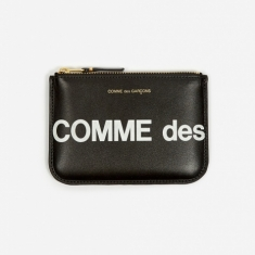 Comme des Garcons Wallets Huge Logo  - (SA8100HL) Black