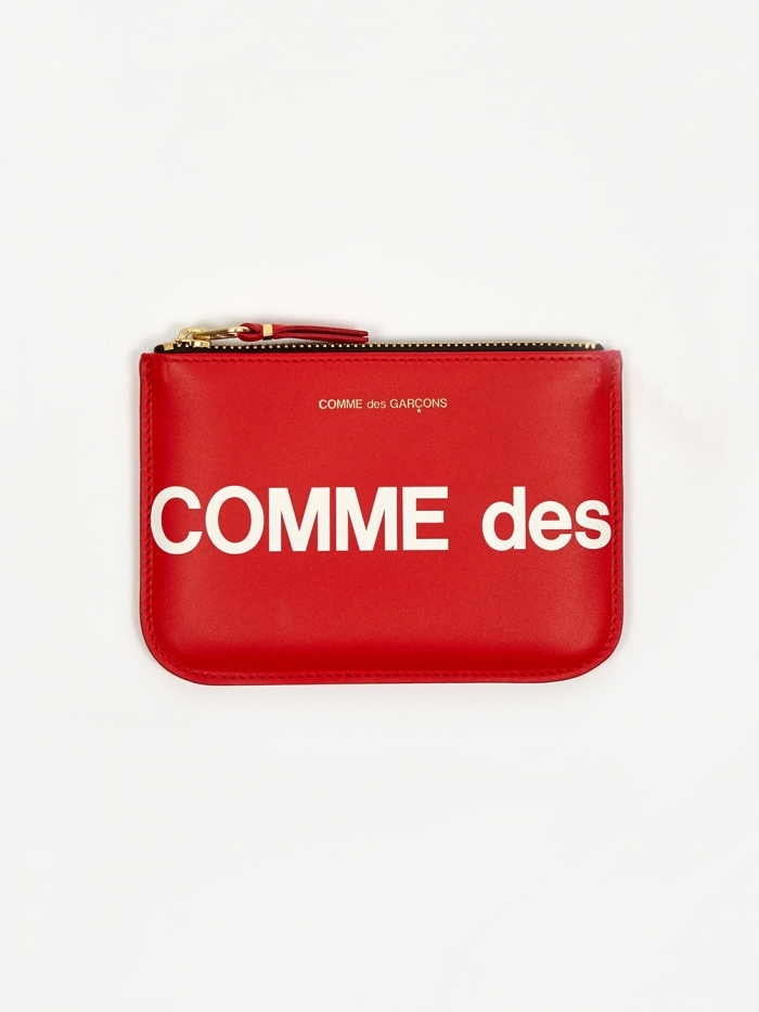 Comme des Garcons Wallets Huge Logo - (SA8100HL)Red (Image 1)