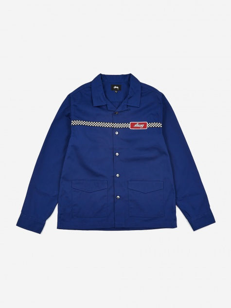 Checker Work Longsleeve Shirt - Blue