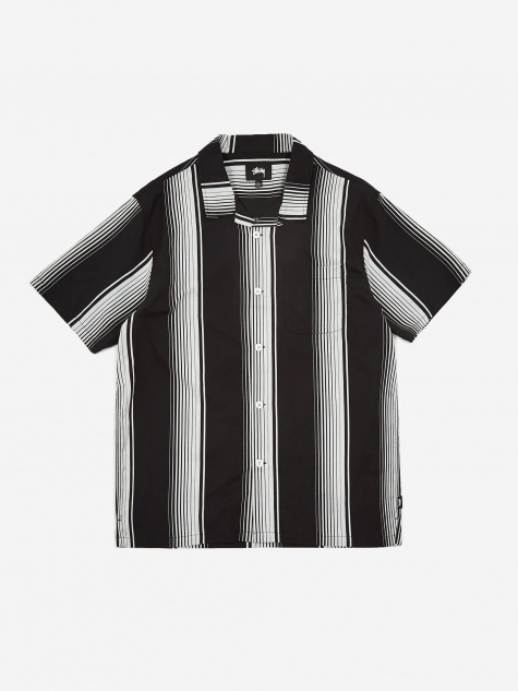 Jacquard Striped Shirt - Black