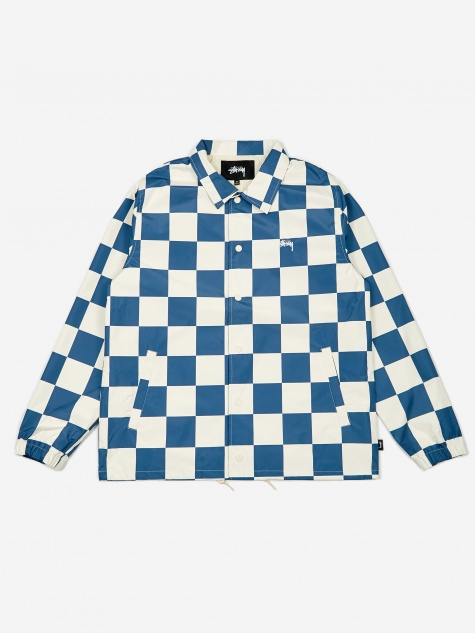 Checker Coach Jacket - Slate