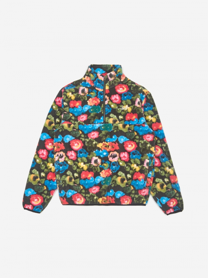 Stussy Basic Polar Fleece Jacket - Floral (Image 1)