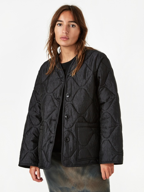 Our Legacy Buttoned Quilted Liner Jacket  - Black