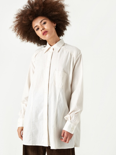 Our Legacy Oma Shirt  - Cotton Stripe