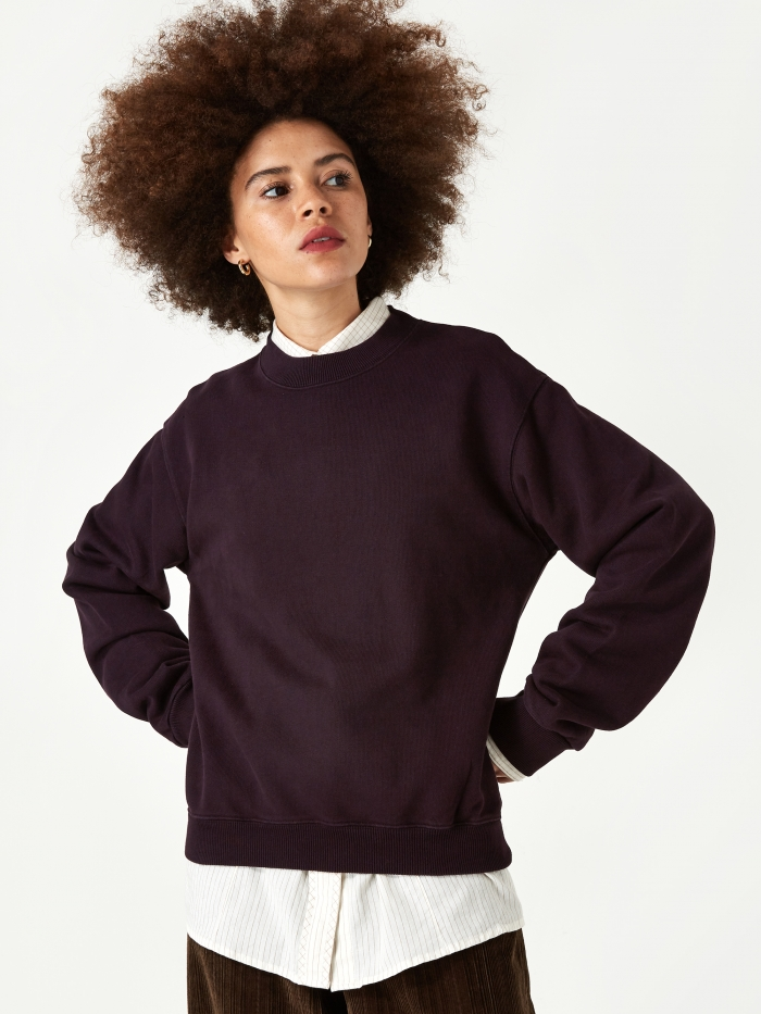 Our Legacy First Sweatshirt - Plum (Image 1)