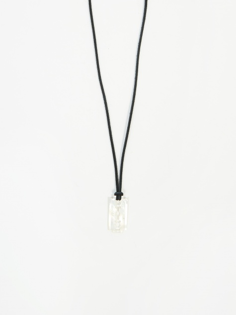 Pearl Razor Necklace - White Pearl