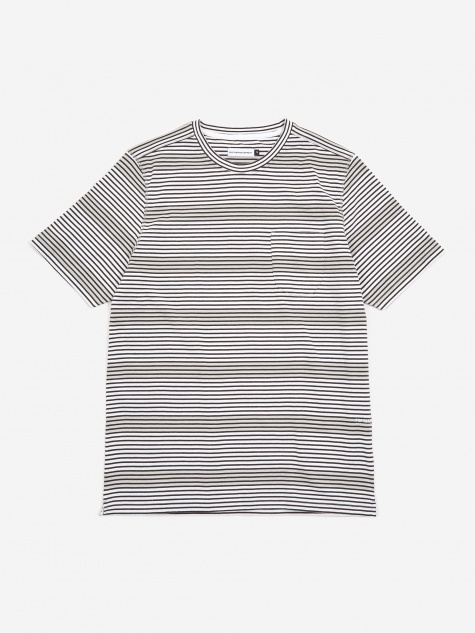 Hard Stripe T-Shirt - Anthracite/White