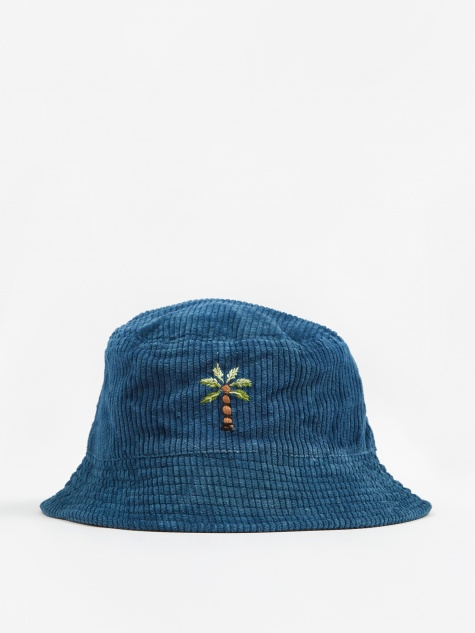 Fat Corduroy Bucket Hat - Indigo