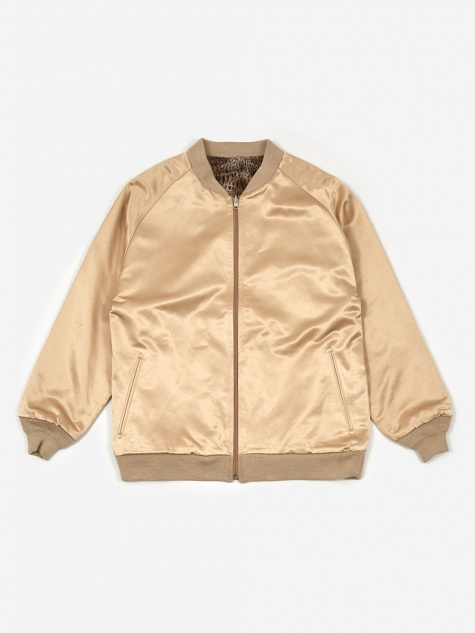 Reversible Rib Collar Jacket - Beige