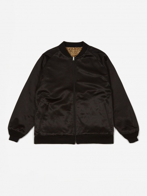 Reversible Rib Collar Jacket - Black
