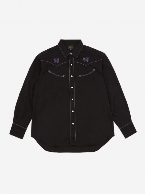 Papillion Embellished Cowboy Shirt - Black